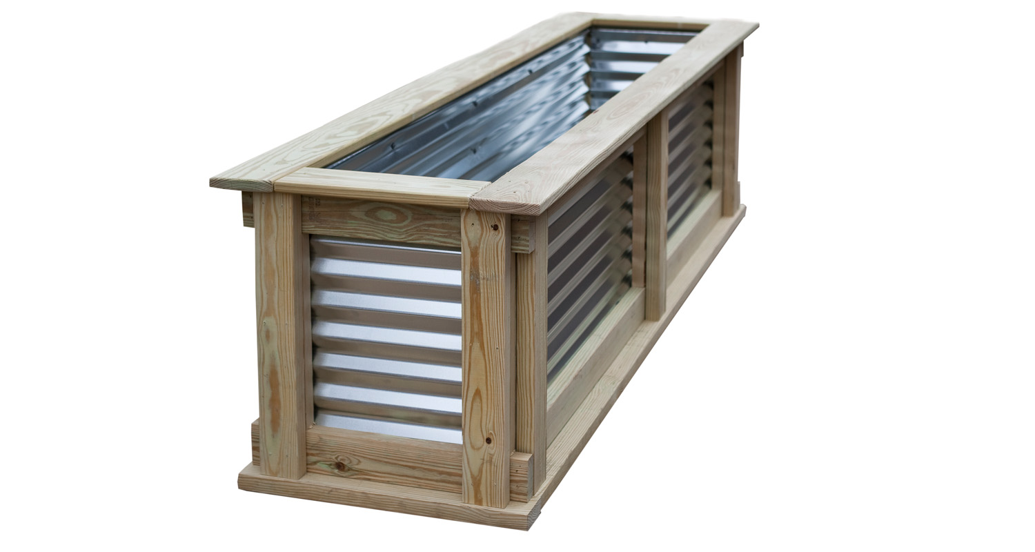 Small Garden Box - Unfinished - White Background