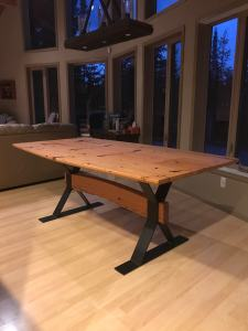 Dining Table Made With Salvaged Fir for a lake of the woods cabin