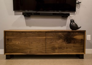 Custom tv stand (credenza) made with walnut