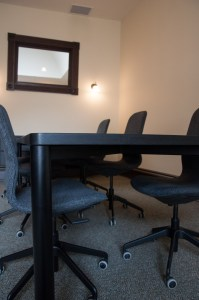 Black Stained Red Oak Boardroom Table