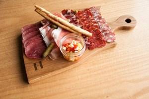 White Oak Charcuterie Board for Harth Mozza and Wine Bar