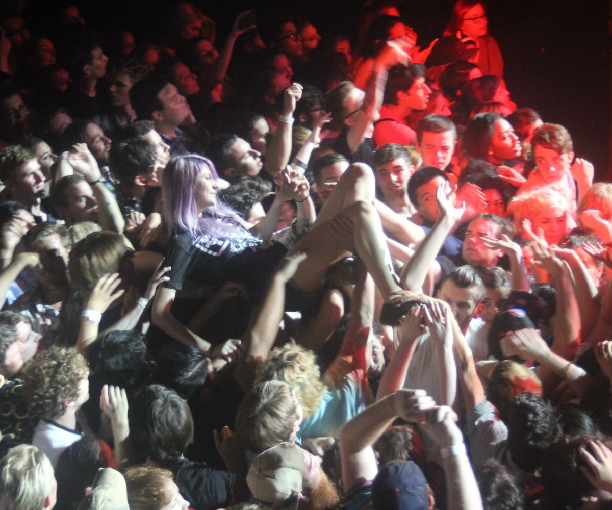 Girl Crowd Surfing