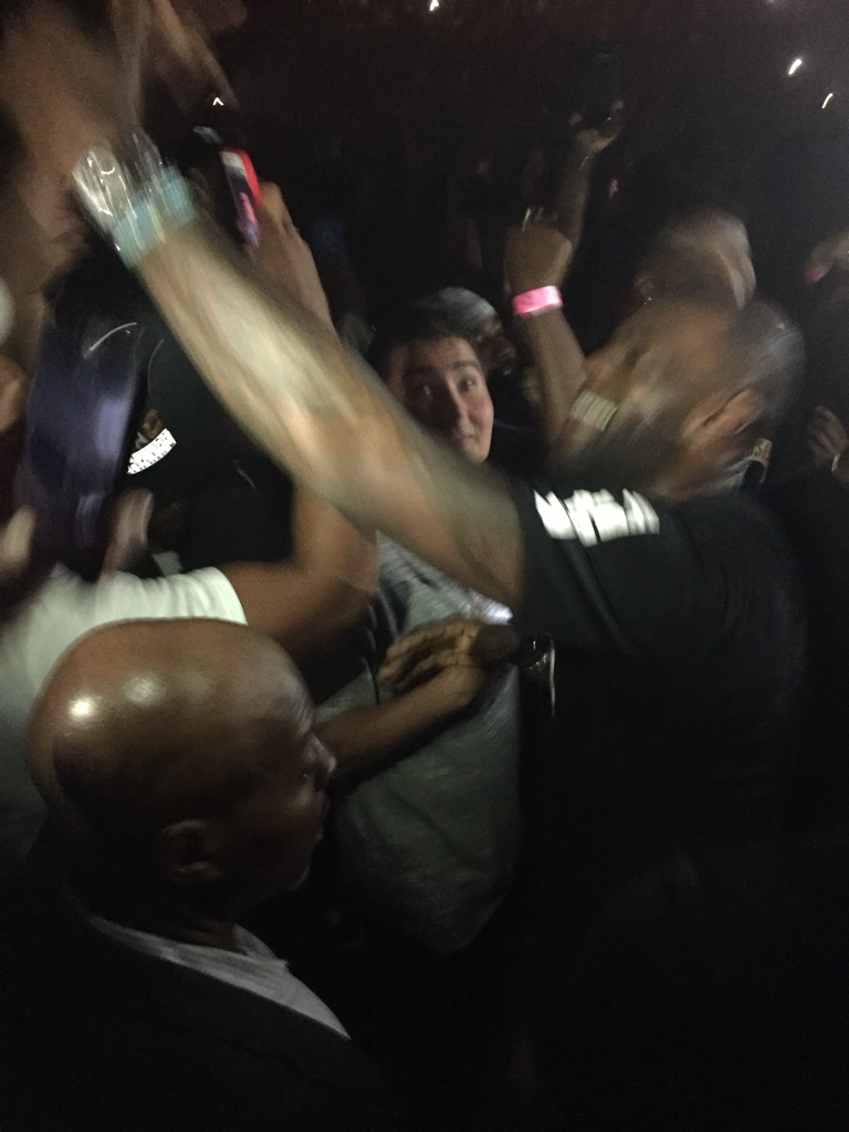 Lebron James Getting Hype at the Kanye Show