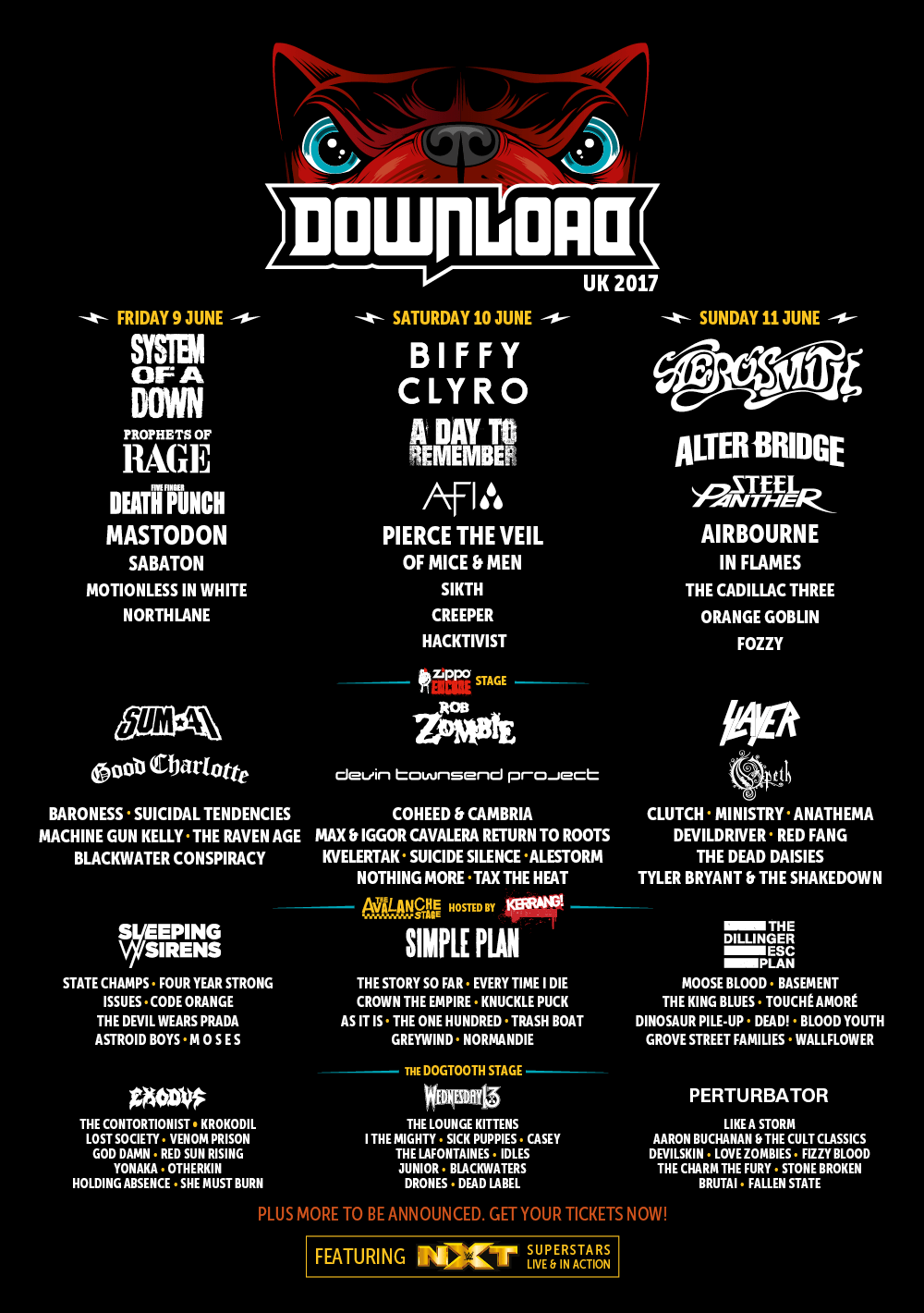 Download Festival Lineup Poster 2017