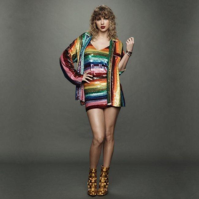Taylor Swift Reputation Rainbow Dress