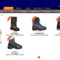 Boot deals in clearance section @ Outside