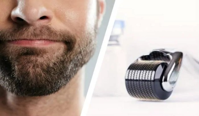derma roller and beard in two panel