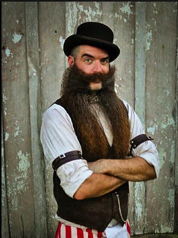 Nate Johnson stylish long beard