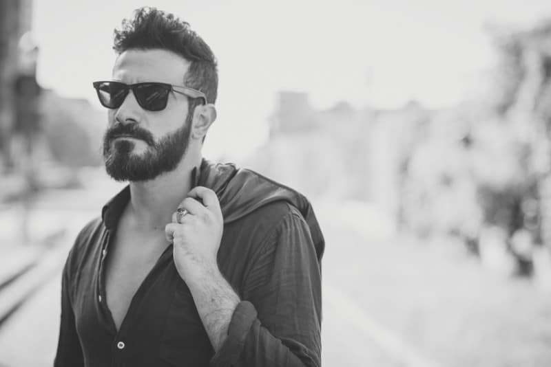 medium beard with Moustache