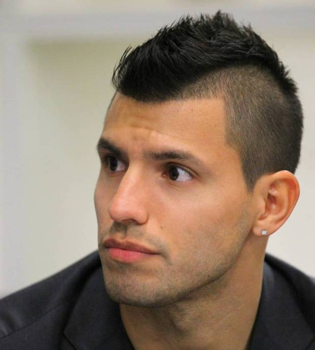 Manchester City's Sergio Aguero during a book signing at the Etihad Stadium, Manchester.