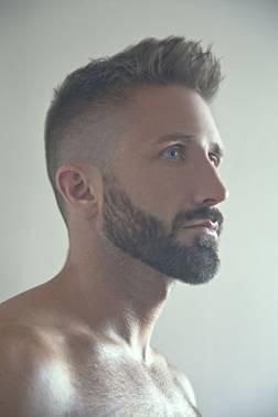 Tapered short length beard