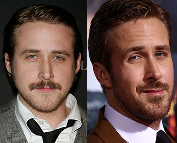 men cool shave with Creepy Mustaches