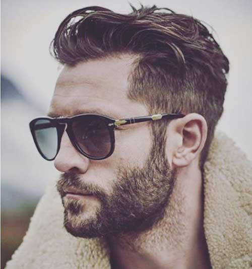 Short and Thick blonde beard styles for men