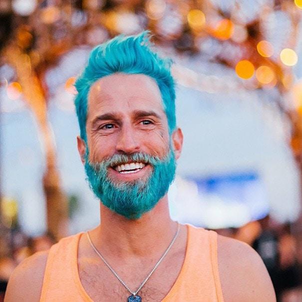 blue color beard your favorite