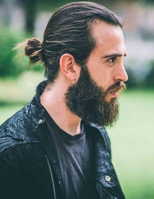 long beard design for round face
