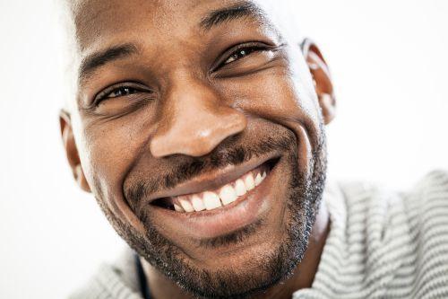 Short curly beard for men