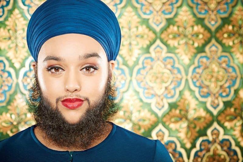 Harnaam Kaur's modern beard style