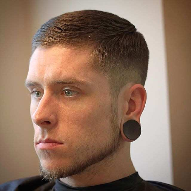 beard fade with textured side part