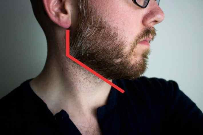 Trim the Beard Neckline