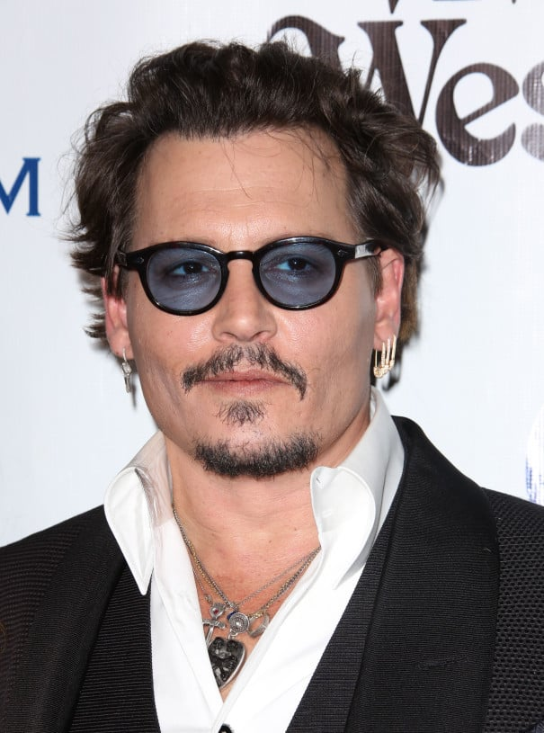 Johnny Depp extra short beard