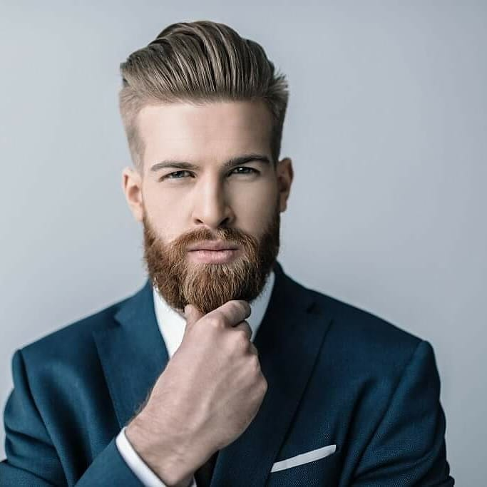 medium beard style for interview