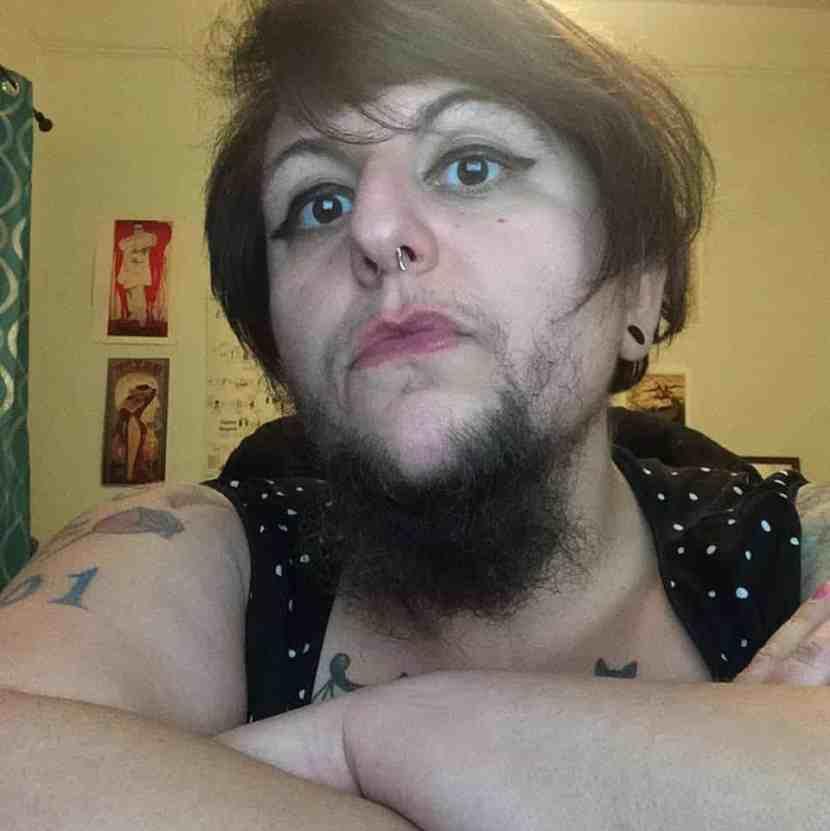 girl with beard
