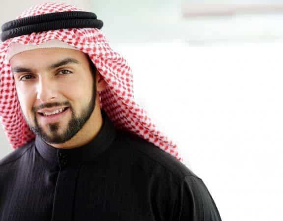Arab man with beard
