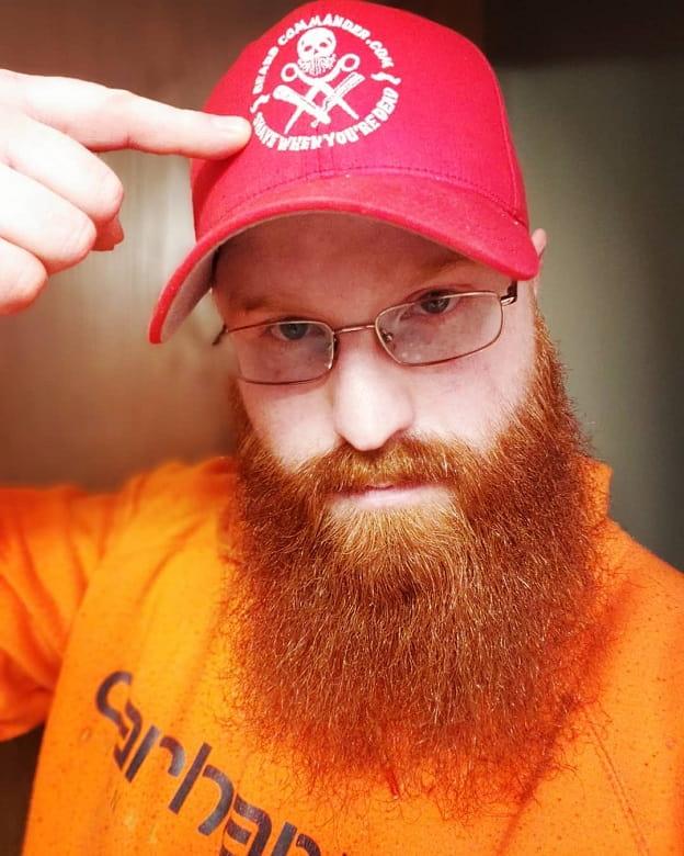 ginger bushy beard for men