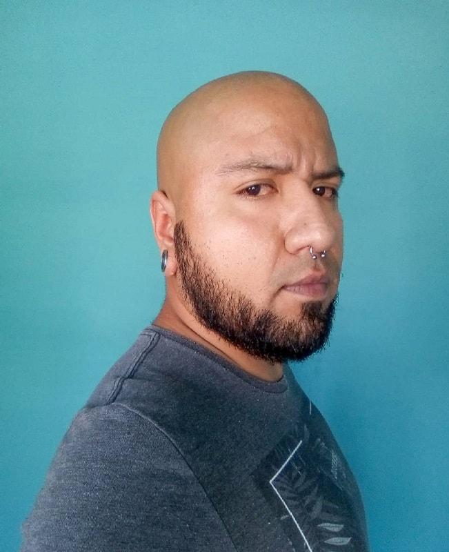 bald men beard without mustache