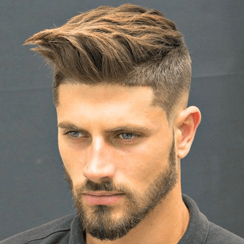 men with rough hair and short beard