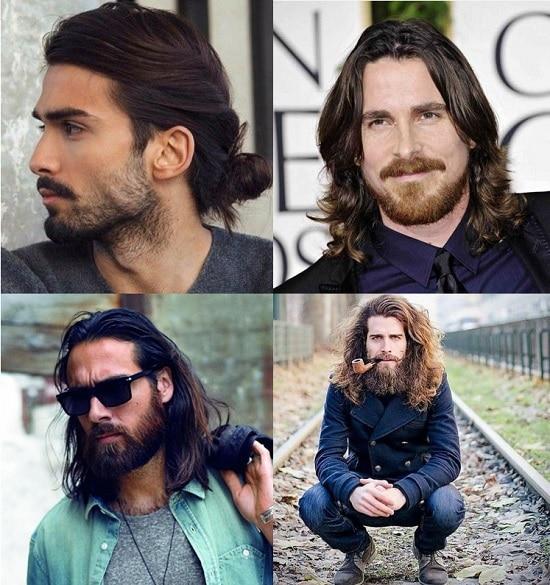 beard for long hair