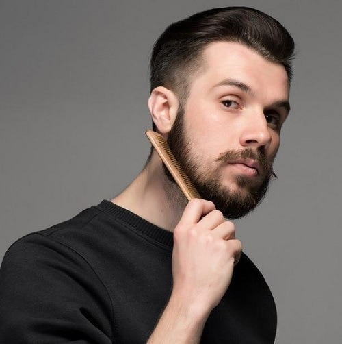 combing the uneven beard