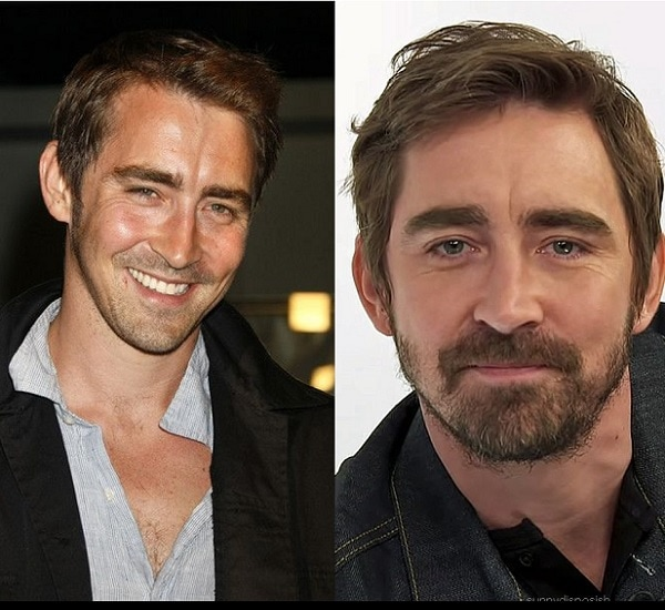 Lee Pace with and without beard