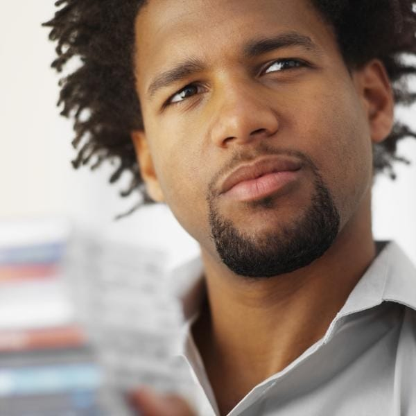 black men round goatee style