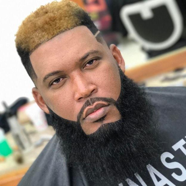 Black Men Goatee with Long Beard