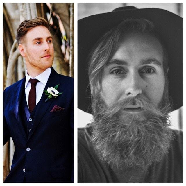 beard before and after