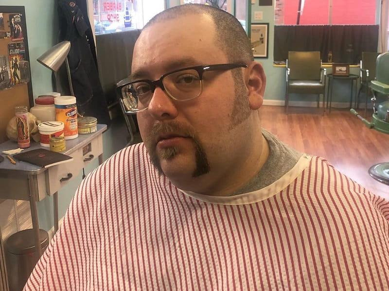 biker beard with buzz cut