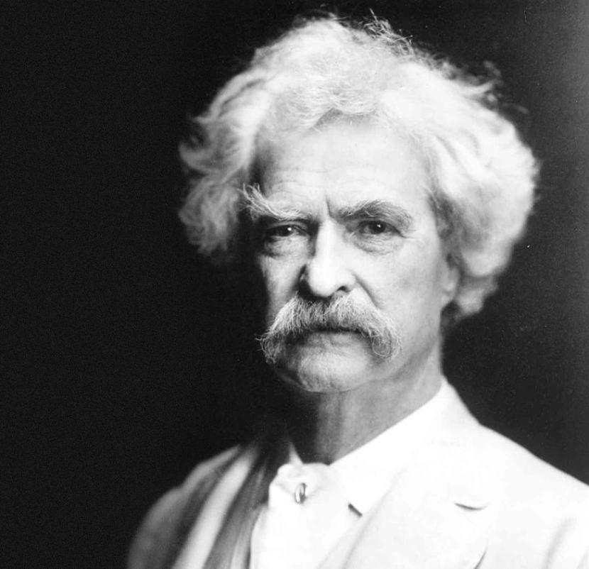 Mark Twain walrus mustache