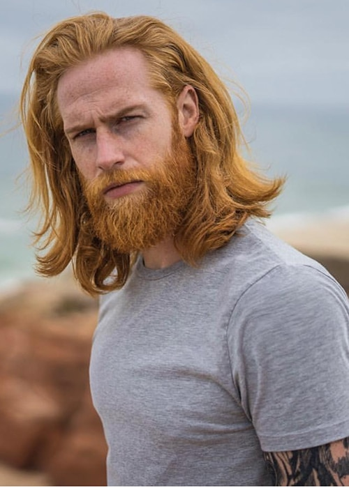 Irish men with long hair and beard