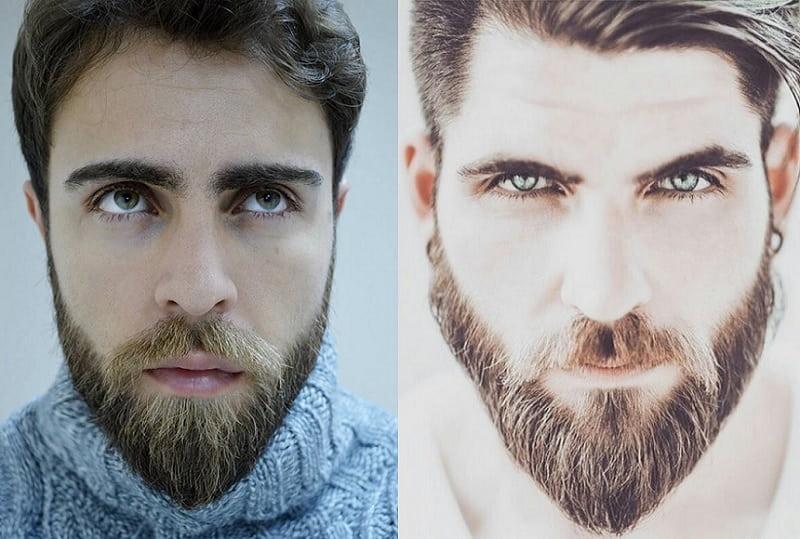 ducktail beard with long mustache