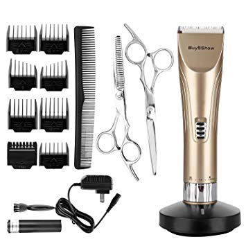BuySShow Quiet Professional Hair Clippers Set Cordless Rechargeable Hair clippers