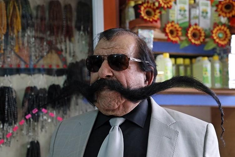 Haci Kilic's longest mustache