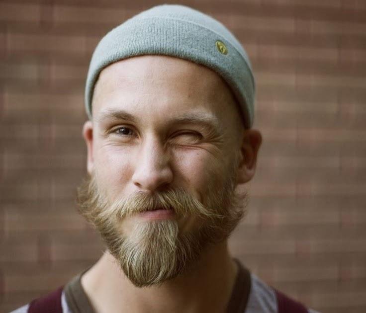 blonde handlebar mustache with beard