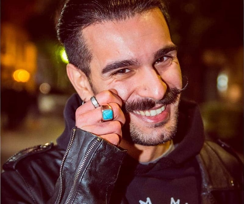 italian handlebar mustache