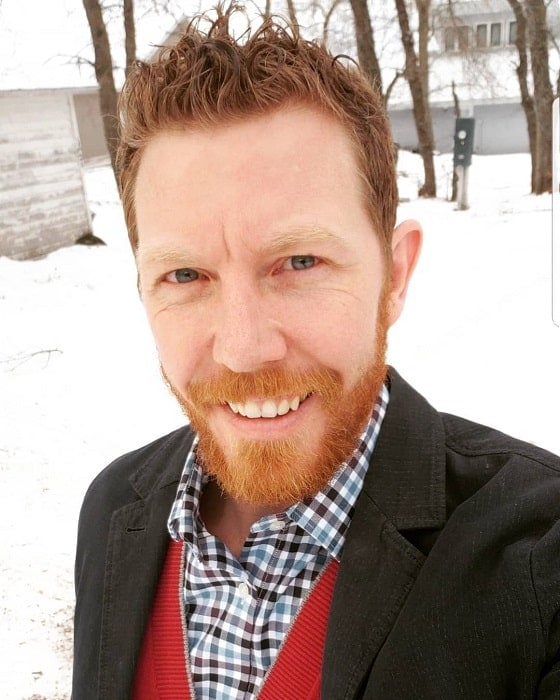 red ginger beard with brown hair