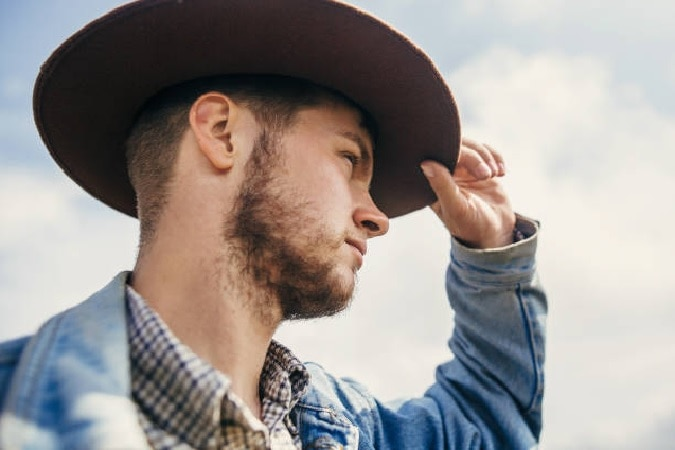 chinstrap beard for cowboys