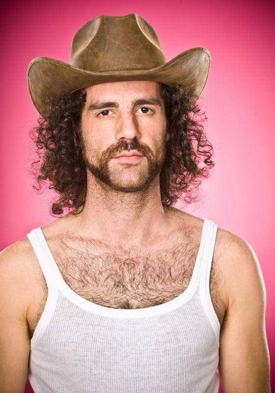cowboy with mutton chops beard