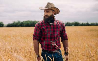 guy with cowboy beard