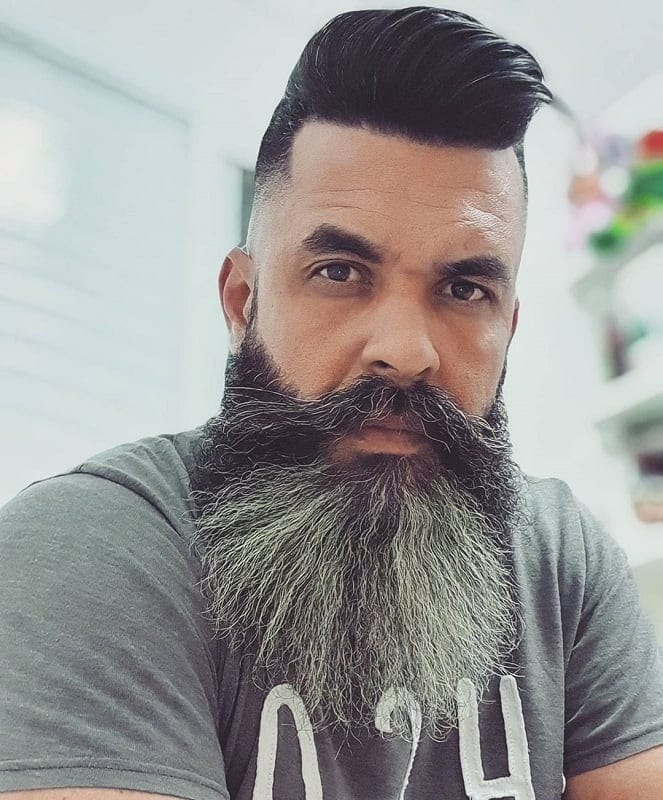 fade haircut with full beard