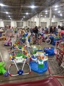 So much stuff! If you have kids, this is THE place to be!